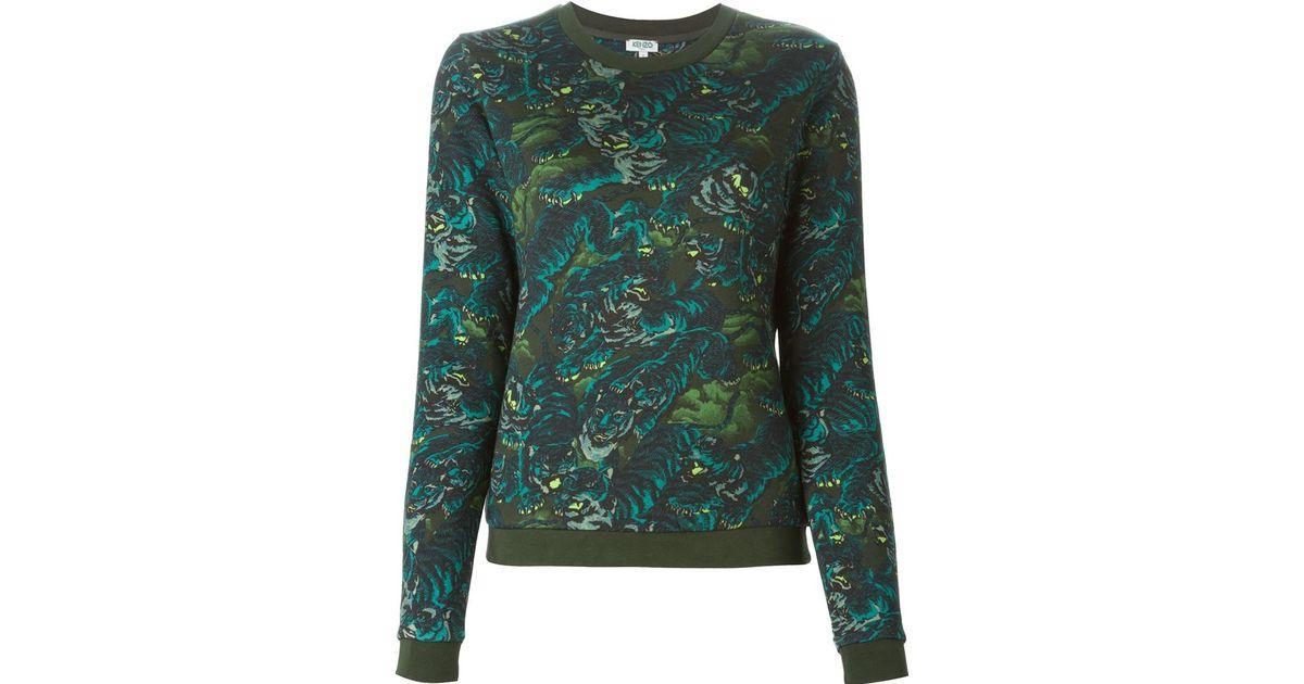 2641c9b0 KENZO 'flying Tiger' Sweatshirt in Green - Lyst