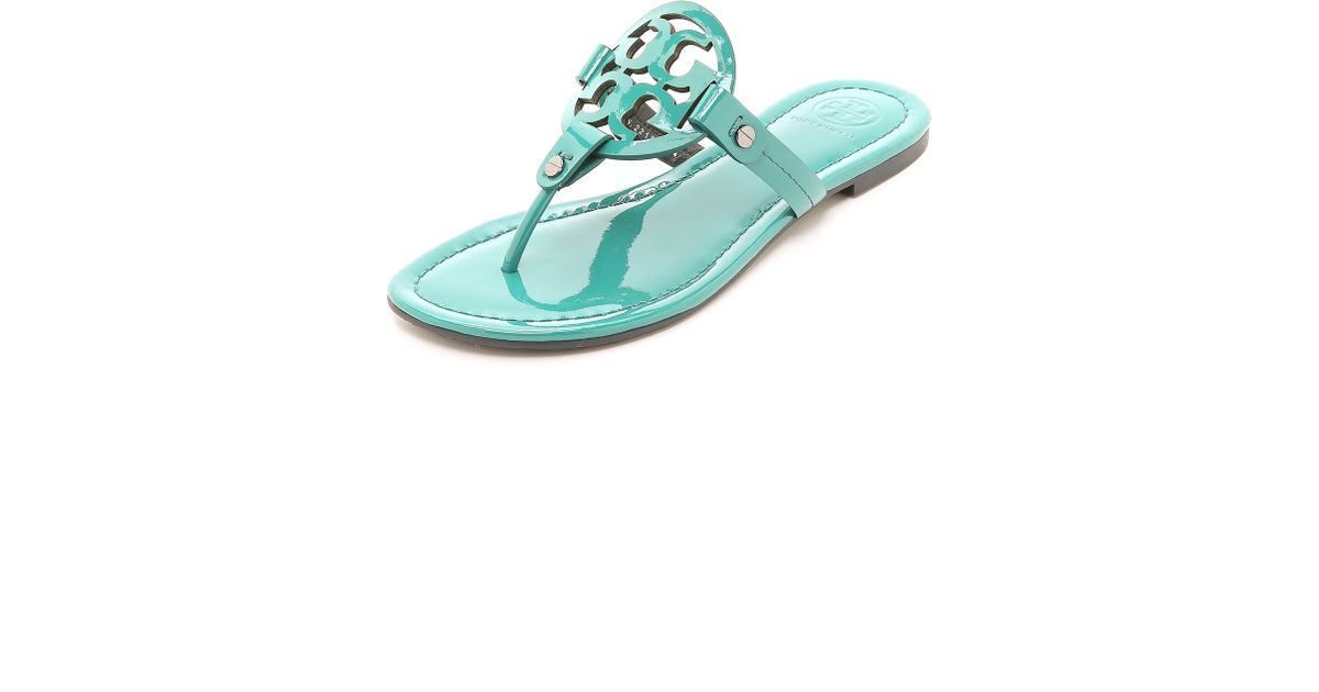 599b05482a17 Lyst - Tory Burch Miller Thong Sandals - Electric Eel in Green