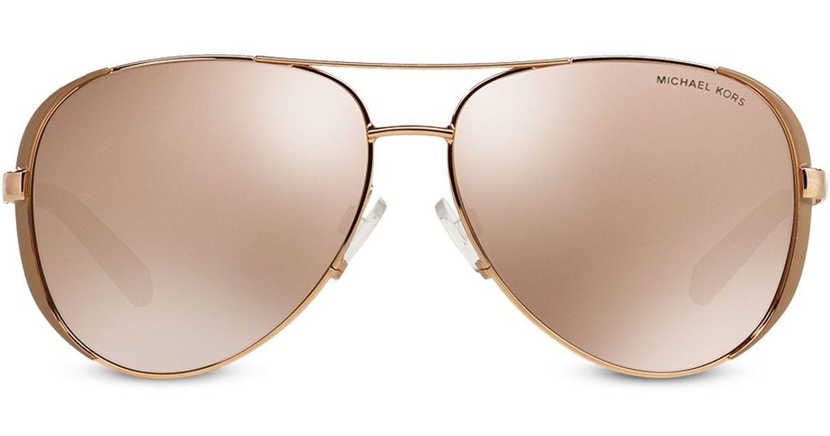 86527414ed Michael Kors Chelsea Aviator Mirror Sunglasses