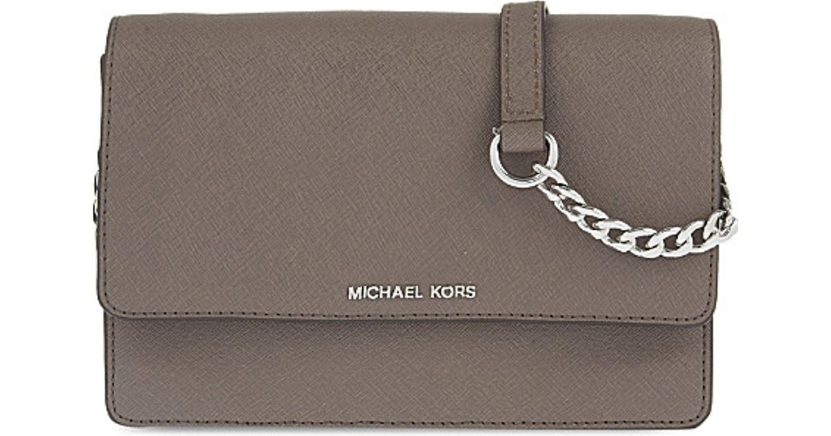 6b786bee3f39 Lyst - MICHAEL Michael Kors Daniela Small Leather Cross-body Bag