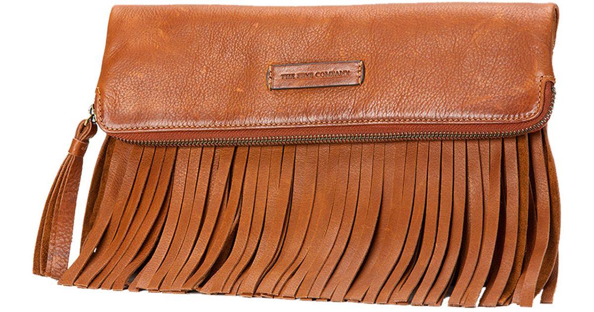 51a7f2c92f30 Lyst - Frye Heidi Fringe Leather Crossbody Bag in Brown