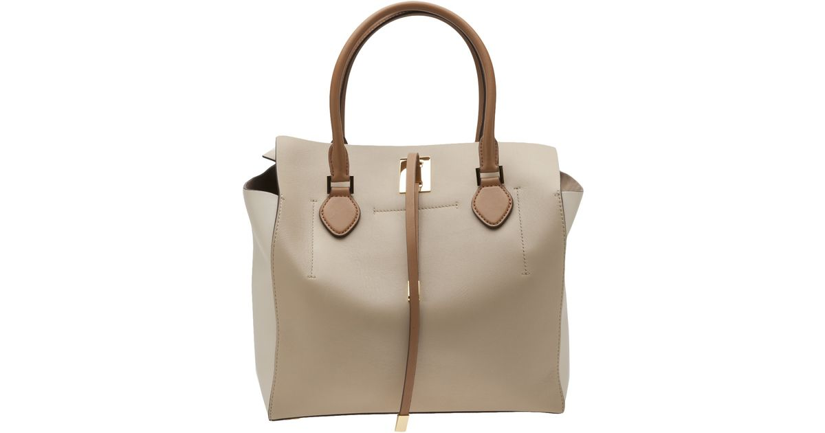 9610d513b3 Lyst - Michael Kors Miranda Color Block Tote in Natural