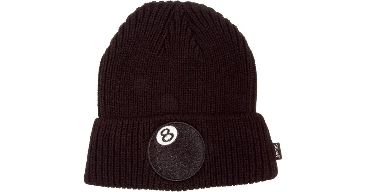 Lyst - Stussy 8 Ball Cuff Beanie Hat in Black for Men e94318135e0