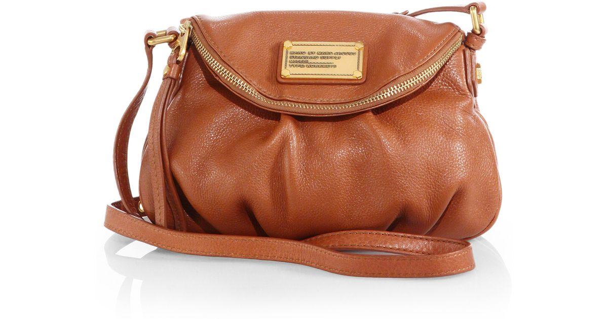 fb5e2d2f9ff1 Lyst - Marc By Marc Jacobs Classic Q Mini Natasha Crossbody Bag in Brown