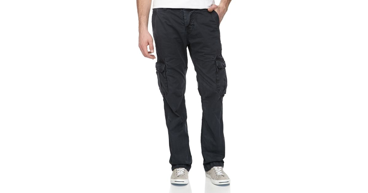 Superdry Military Cargo Pants Rig Black in Gray for Men | Lyst