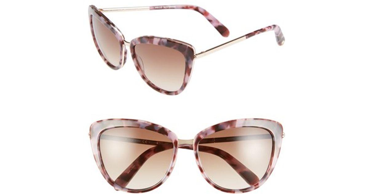 27c873d804368 Lyst - Kate Spade  kandi  56mm Cat Eye Sunglasses in Pink