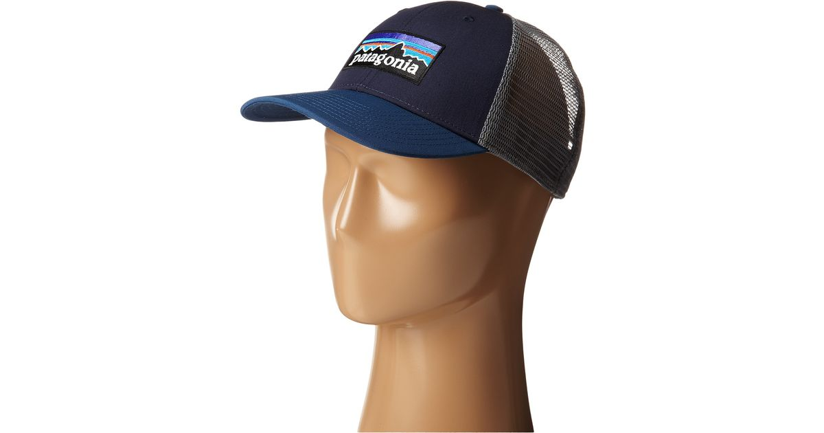 Lyst - Patagonia P6 Lopro Trucker Hat in Blue 3aab8a37335