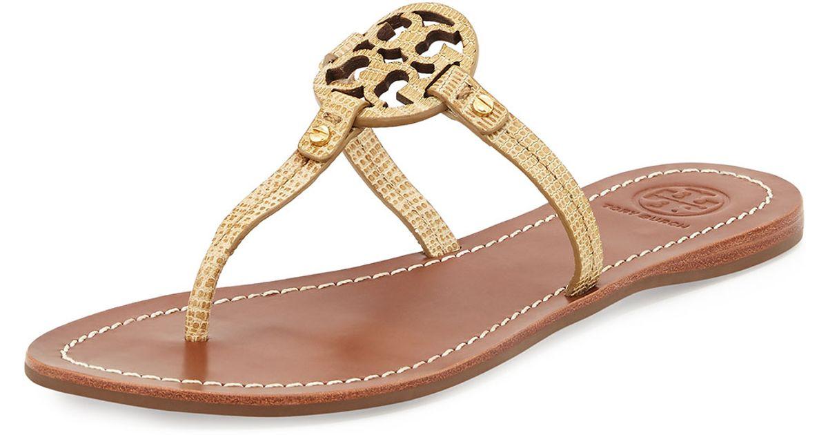 c4071a1cb019 Lyst - Tory Burch Mini Miller Snake-Embossed Sandals