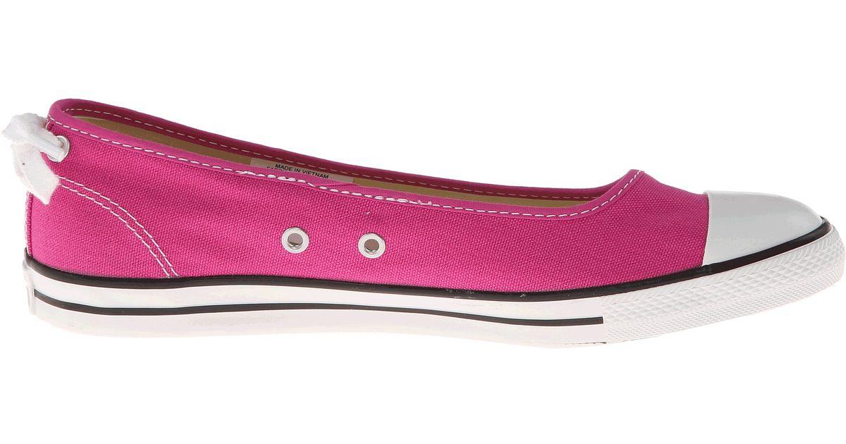 550140a2e9d721 Lyst - Converse Chuck Taylor All Star Dainty Ballerina Slipon Ox in Pink