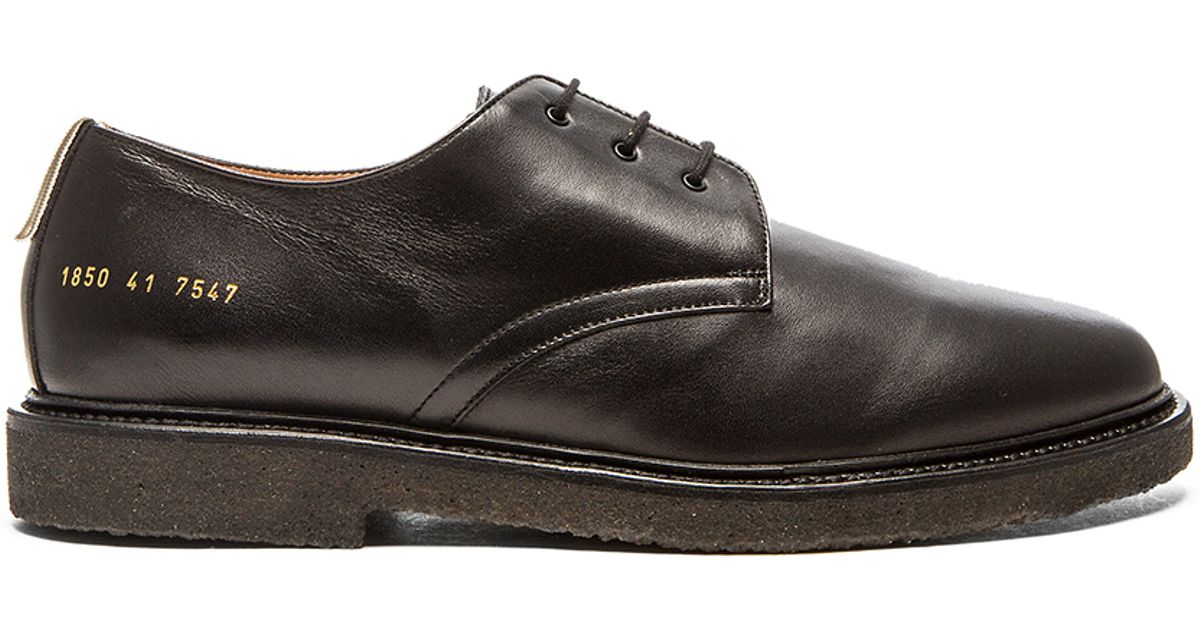 bcea6ce5b151 Lyst - Common Projects Cadet Derby in Black for Men