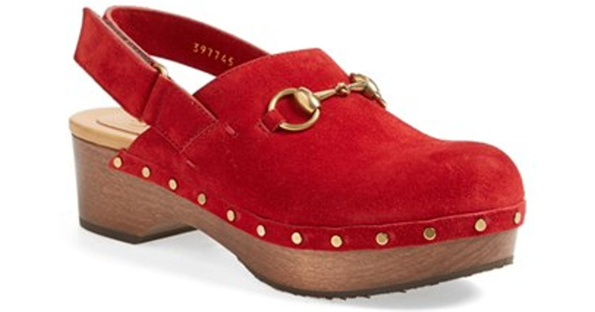 4c76d7b95ad Lyst - Gucci  Amstel  Clog in Red