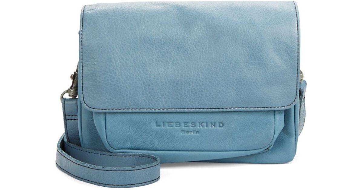 Lyst - Liebeskind Berlin Calista Leather Crossbody Bag in Blue 635fdcb742
