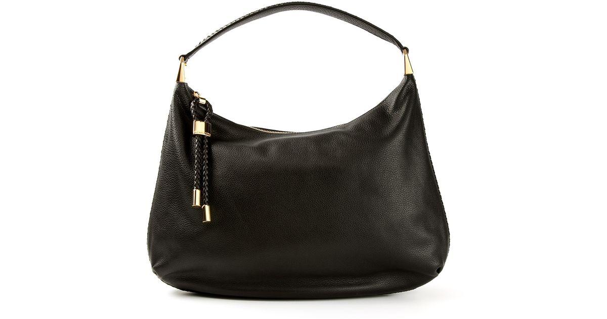 14cd3fcf1439 Lyst - Michael Kors Skorpios Hobo Shoulder Bag in Black