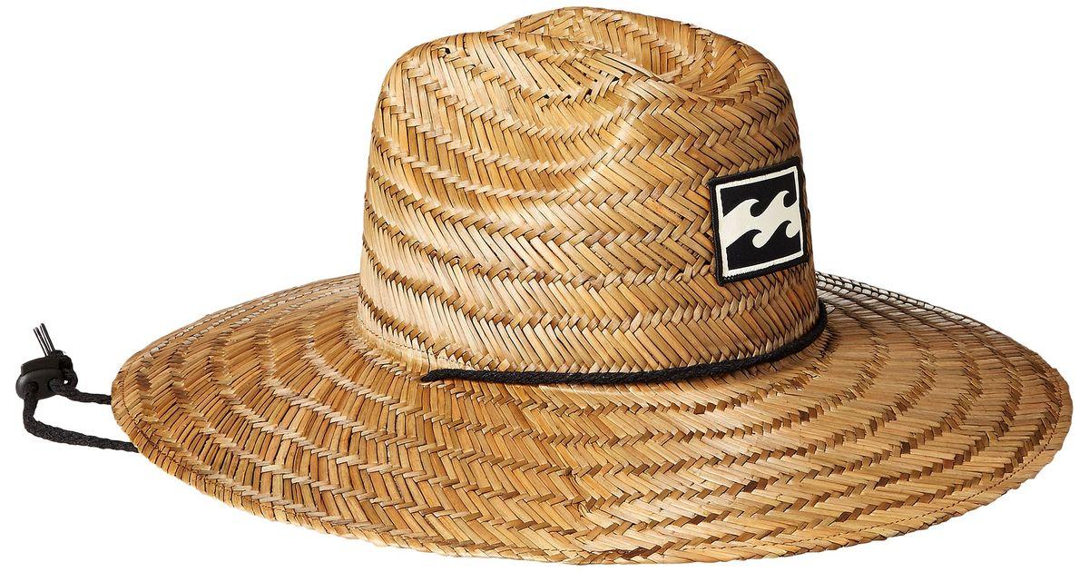 Lyst - Billabong Bazza Straw Lifeguard Hat in Brown for Men a9fc1b1d6d7