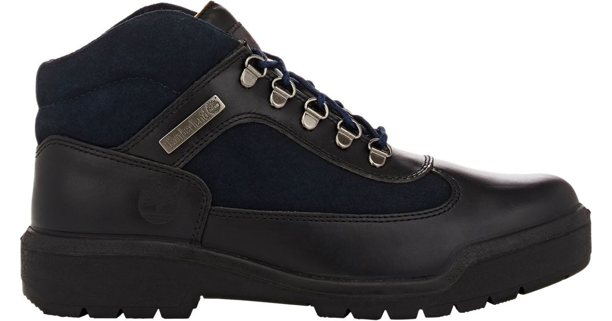 timberland s field boots in black for lyst