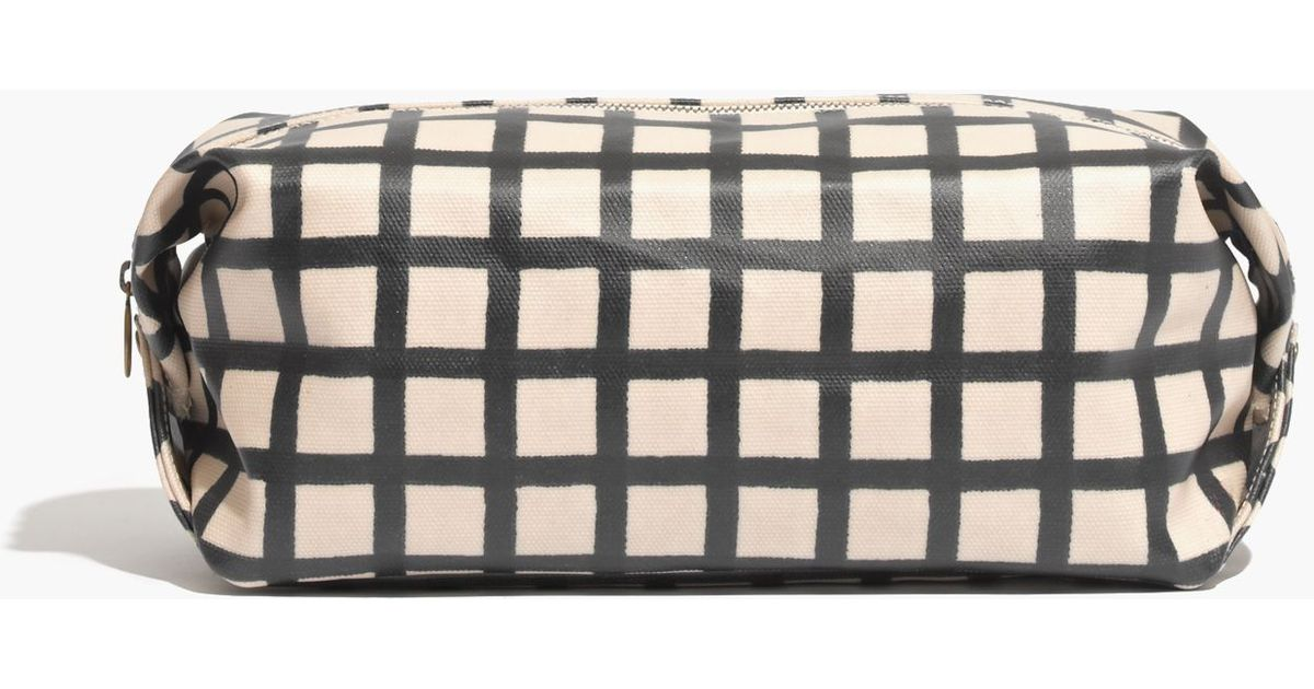 2133c60e49 Lyst - Madewell Dopp Kit in Buffalo Plaid in Natural
