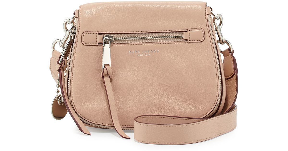d3b06ae2267ada Marc Jacobs Recruit Small Leather Saddle Bag in Natural - Lyst