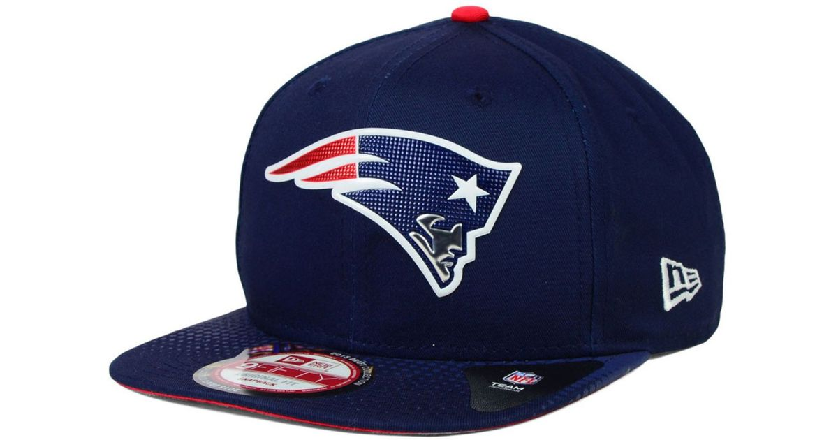 0cede34e7ccdc ... shop lyst ktz new england patriots 2015 nfl draft 9fifty snapback cap  in blue for men