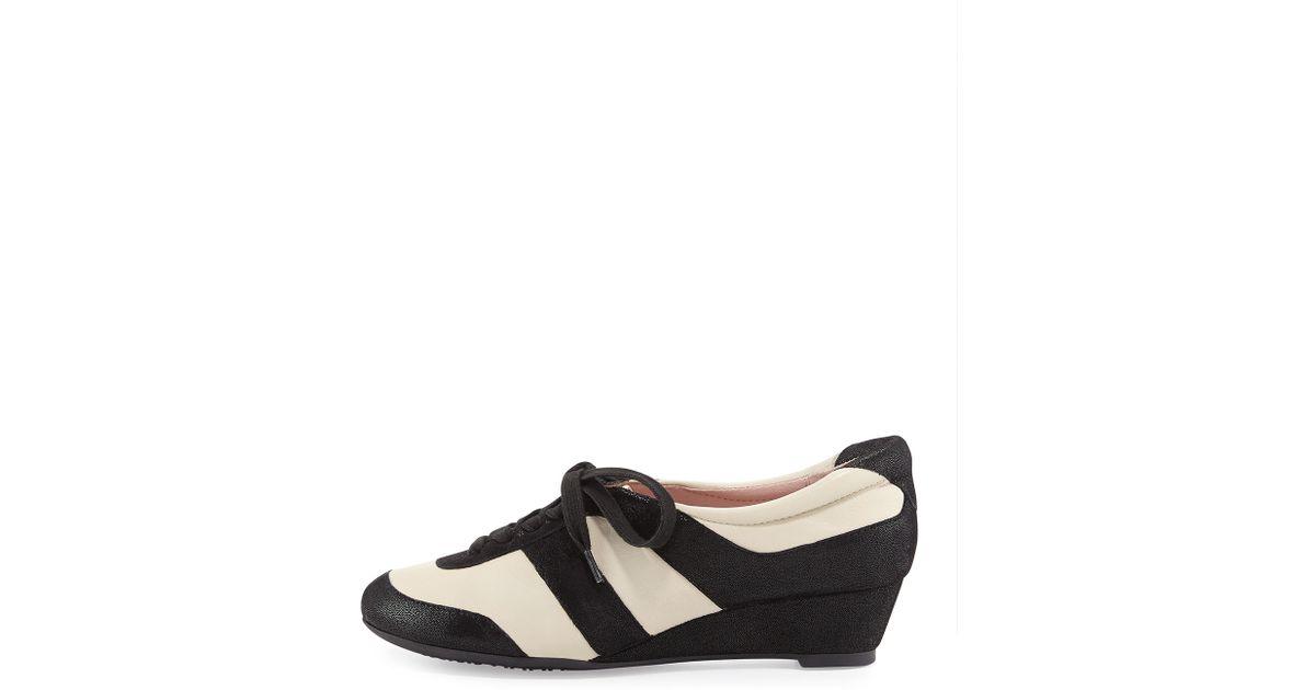 c1bb42e660b0 Lyst - Taryn Rose Parisa Metallic Lace-up Sneaker in Black