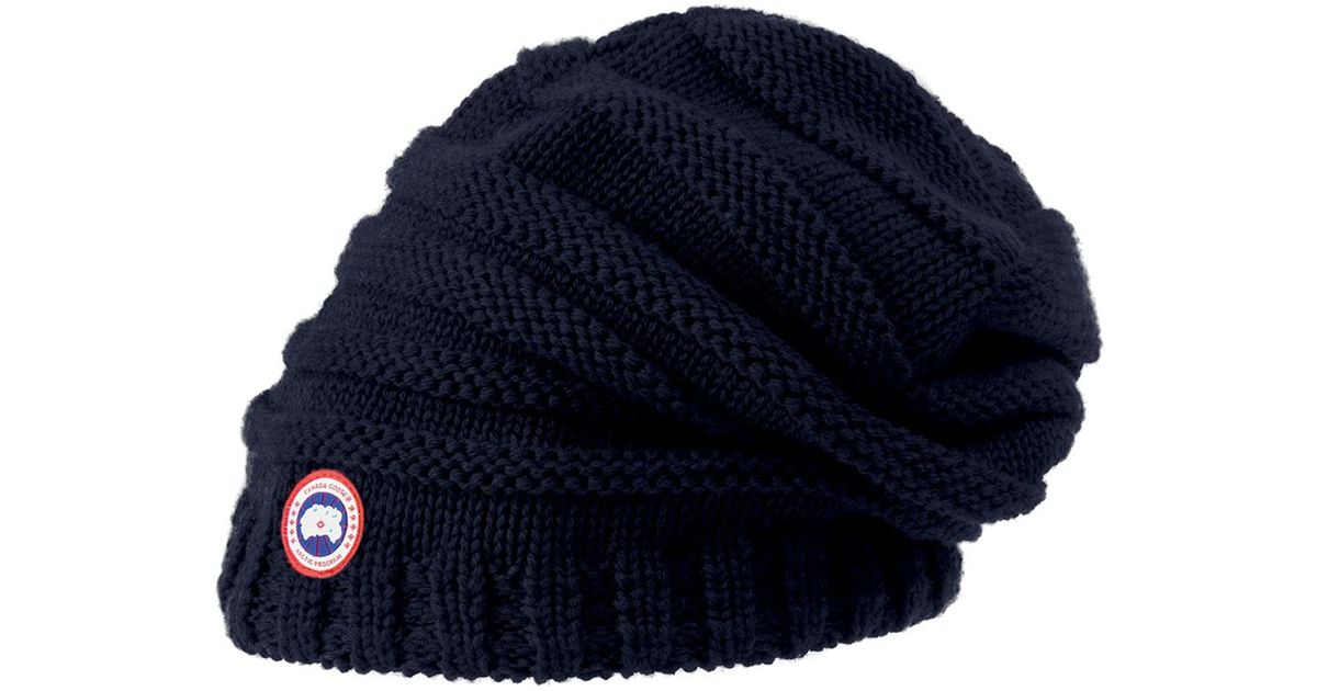 Lyst - Canada Goose Merino Wool Slouchy Hat in Blue 6e9b8efc018