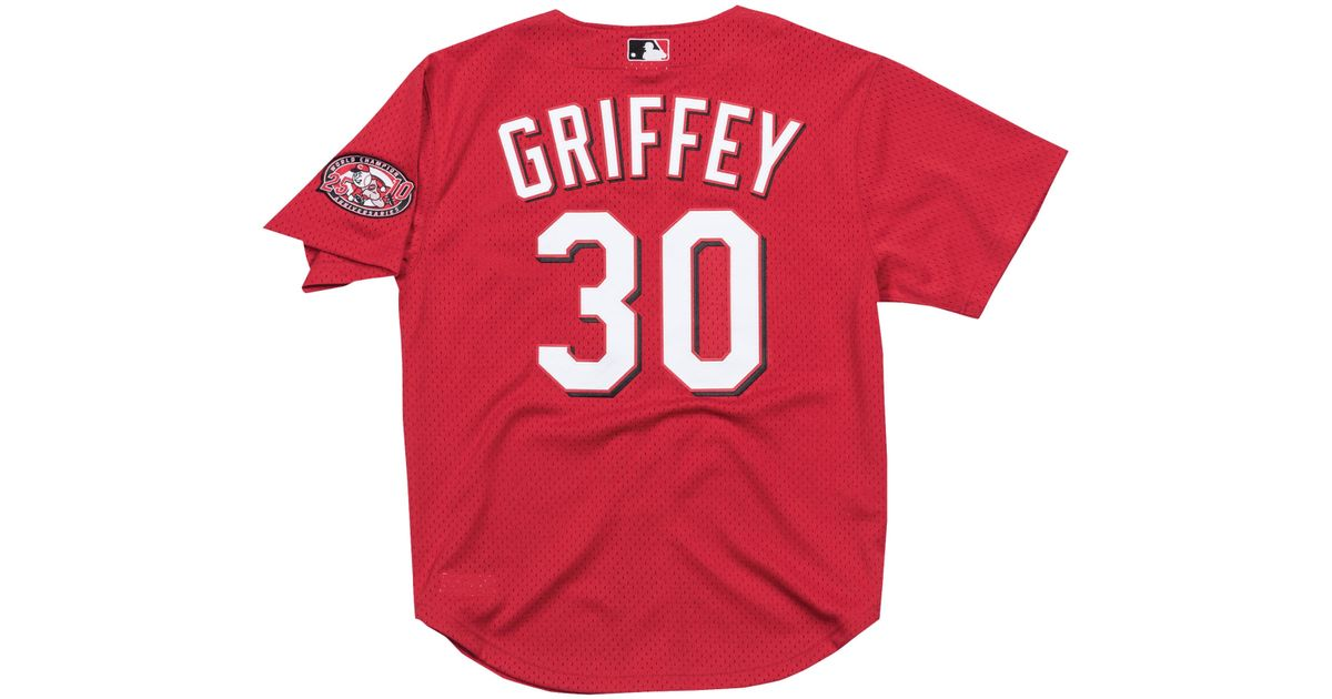 online store 452ee 94377 Mitchell & Ness - Red Ken Griffey Jr. Mlb Player Authentic Bp Jersey for  Men - Lyst
