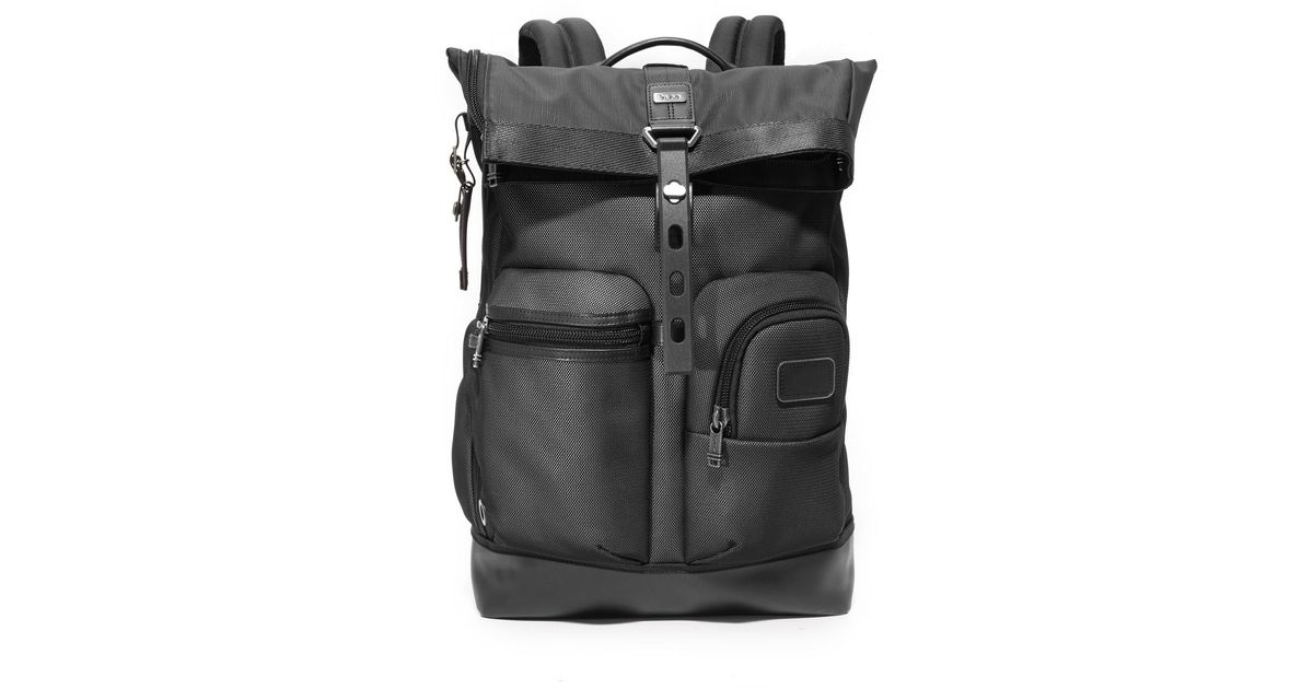 Tumi Reflective Alpha Bravo Luke Roll Top Backpack in Black for Men - Lyst de492ce443b1a