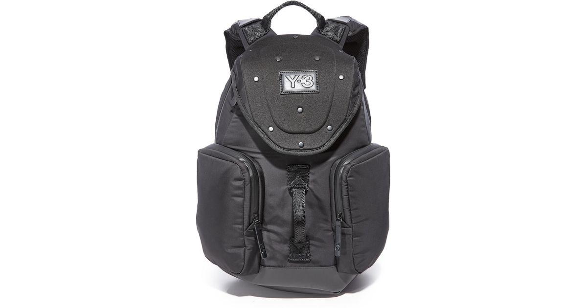 8a343404ef Lyst - Y-3 Armor Backpack in Black for Men