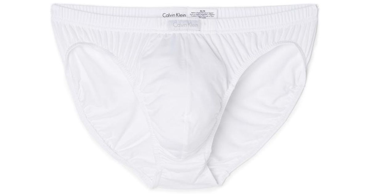 707cd1f1511e Calvin Klein Body Modal Bikini Briefs in White for Men - Lyst