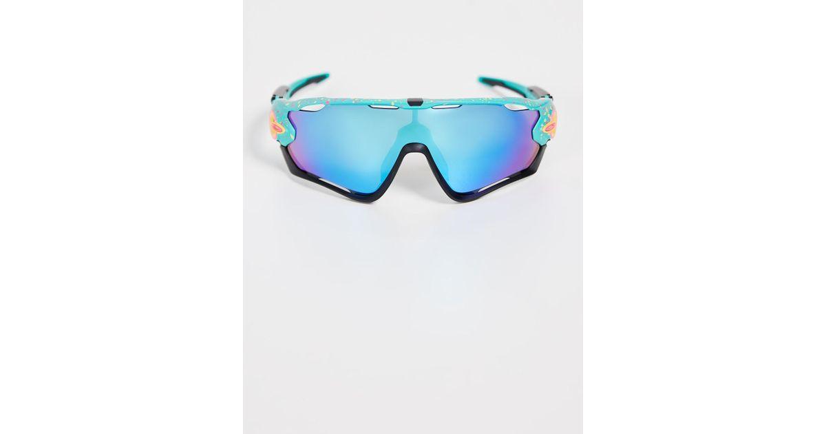 3f842cb8102 Lyst - Oakley Jawbreaker Splatter Sunglasses in Blue for Men