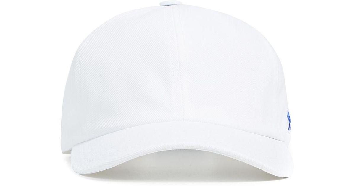 Maison Kitsuné Fox 6 Panel Tricolor Cap in White for Men - Lyst e7def9f25f6d
