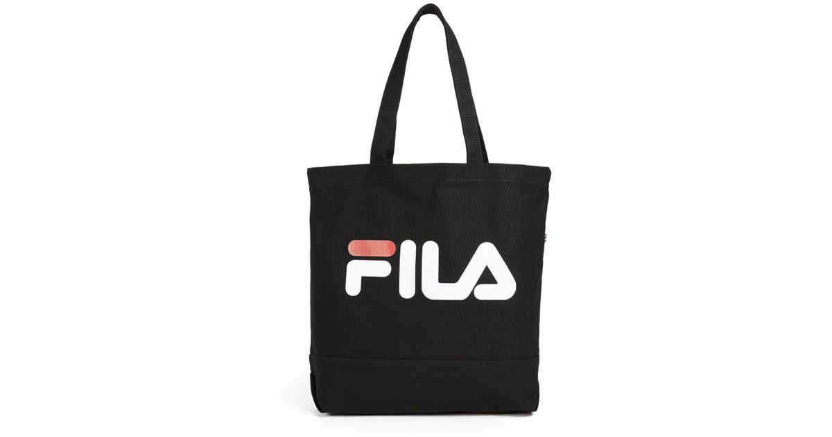 Lyst - Fila Canvas Tote Bag in Black for Men