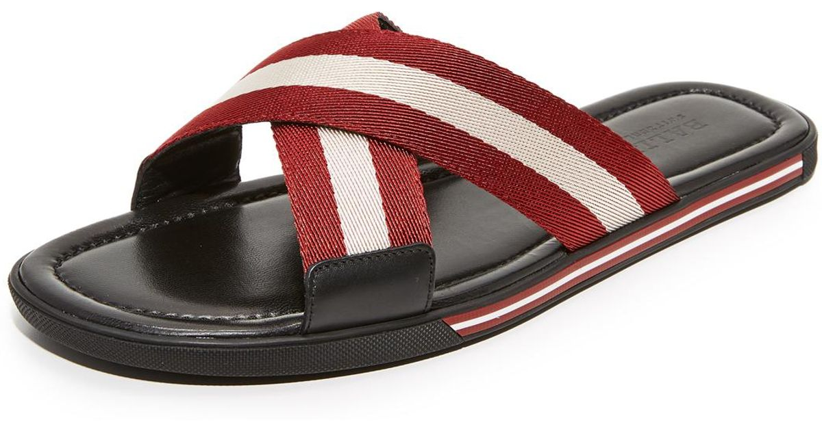628b8a5ea556 Lyst - Bally Bonks Slide Sandals in Red for Men