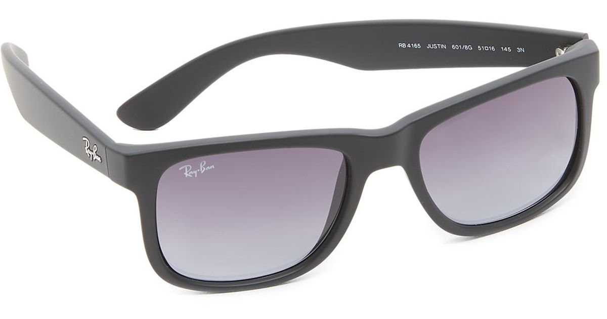 490b9b7e8ed Lyst - Ray-Ban Justin Sunglasses in Black for Men - Save 11%