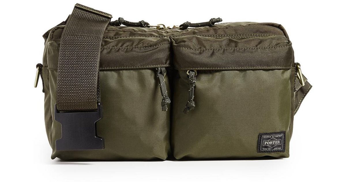 55a6e44f04df Porter - Green Force 2 Way Waist Bag for Men - Lyst