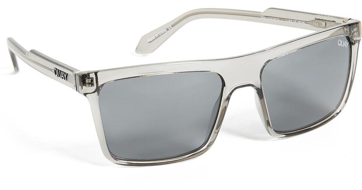 2391c8f13d Lyst - Quay Let It Run Sunglasses in Gray for Men