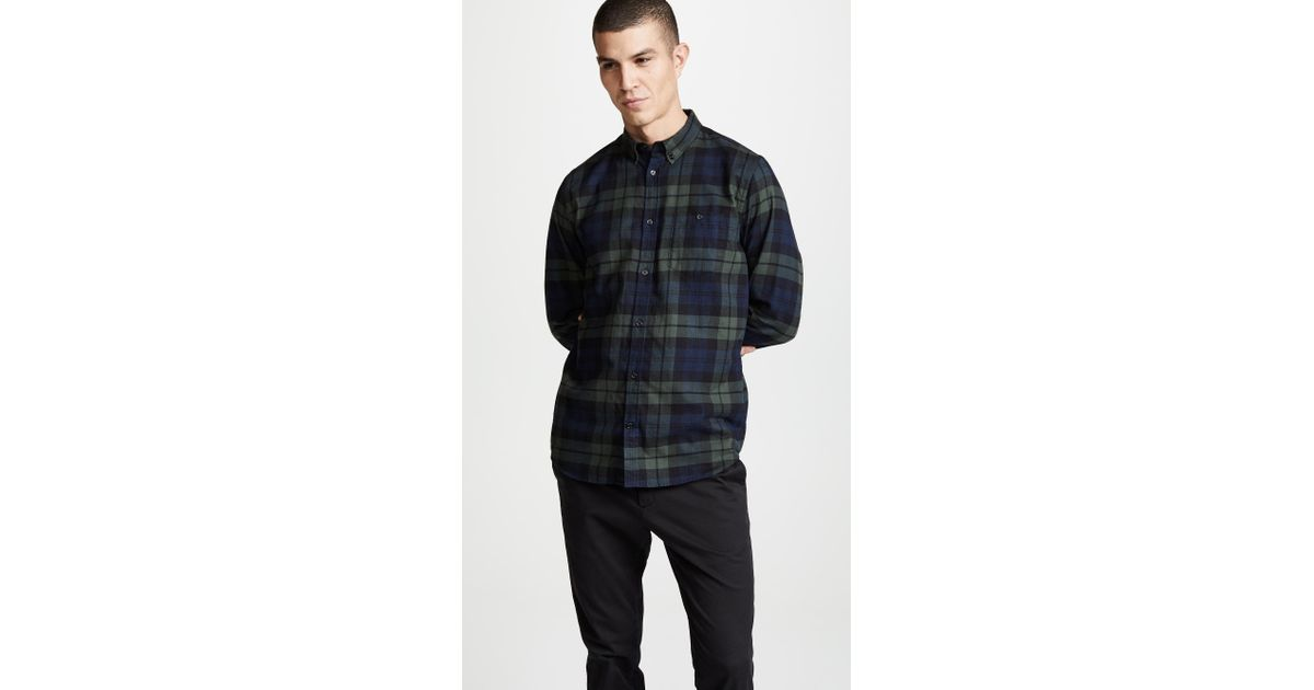 ff682a7207 Norse Projects Villads Check Brushed Flannel Shirt for Men - Lyst