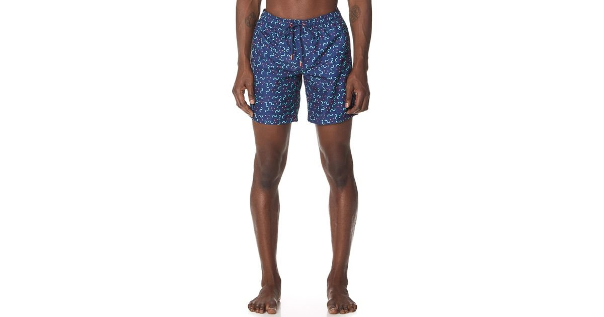 3147cc4c7b Sundek Elements Print Board Shorts in Blue for Men - Lyst