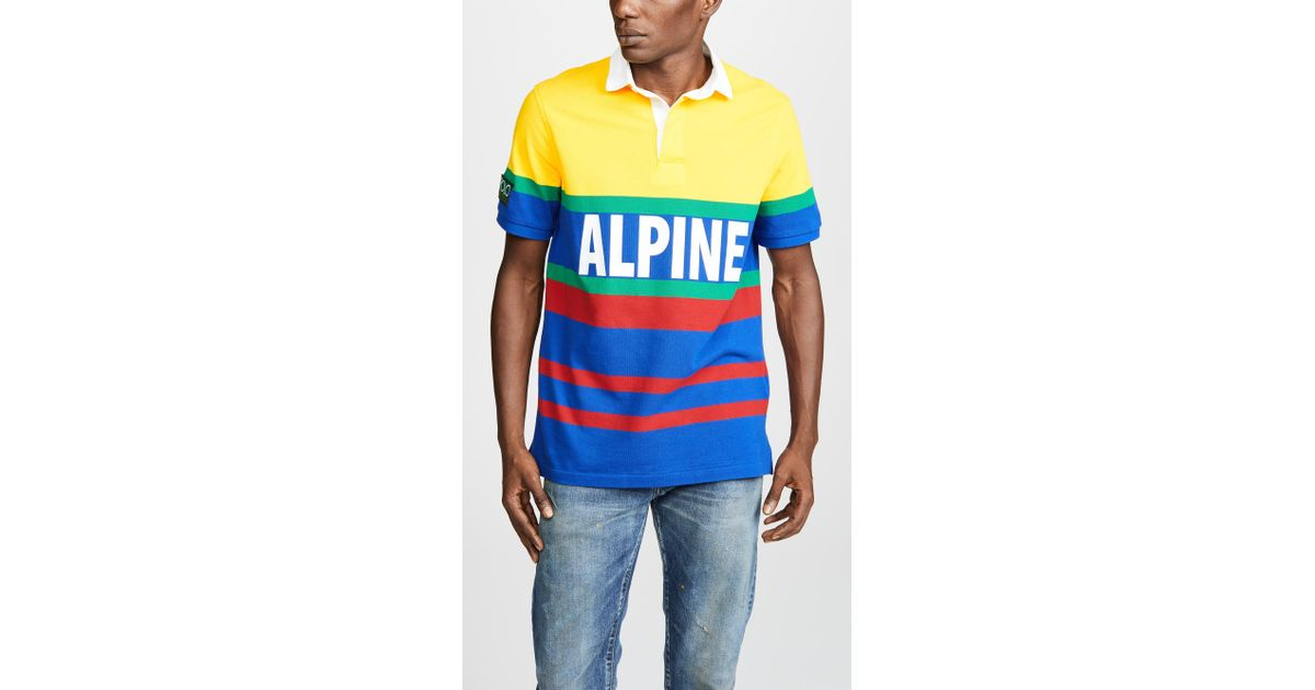 b5b883dcb5a Polo Ralph Lauren Hi Tech Short Sleeve Rugby Polo Shirt in Blue for Men -  Lyst