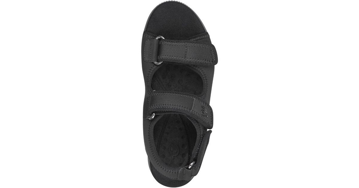 76c6ff977a02 Lyst - Easy Spirit Wharf Wedge Sandals in Black - Save 51%