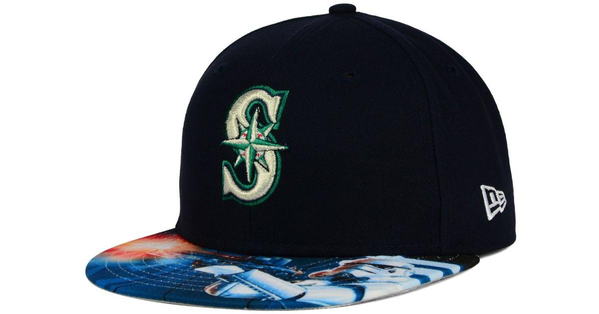 premium selection 5b5ab 31022 KTZ Seattle Mariners Mlb X Star Wars Viza Print 59fifty Cap in Blue for Men  - Lyst