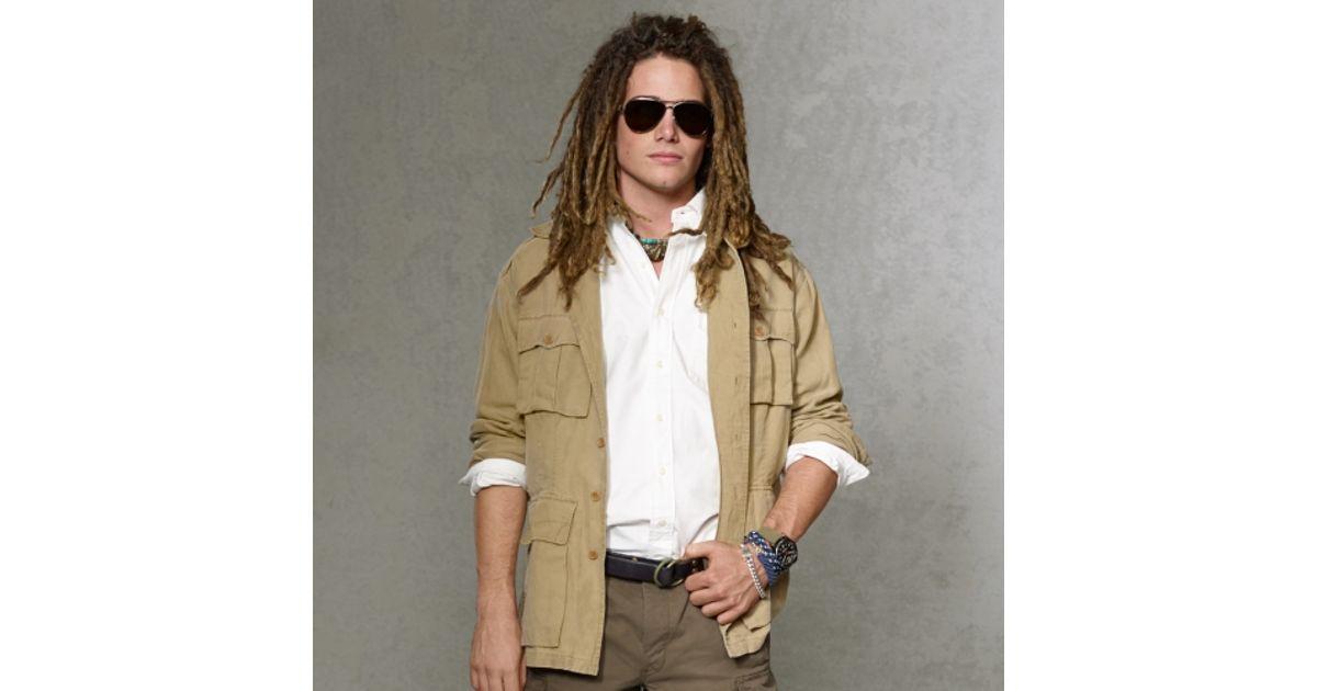 Polo ralph lauren Safari Shirt Jacket in Natural for Men ...