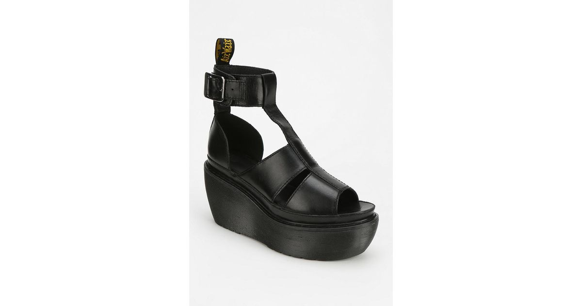 Bessie Sandal In Wedge Lyst Platform Drmartens 0mnnov8w Black oWdCQxBer
