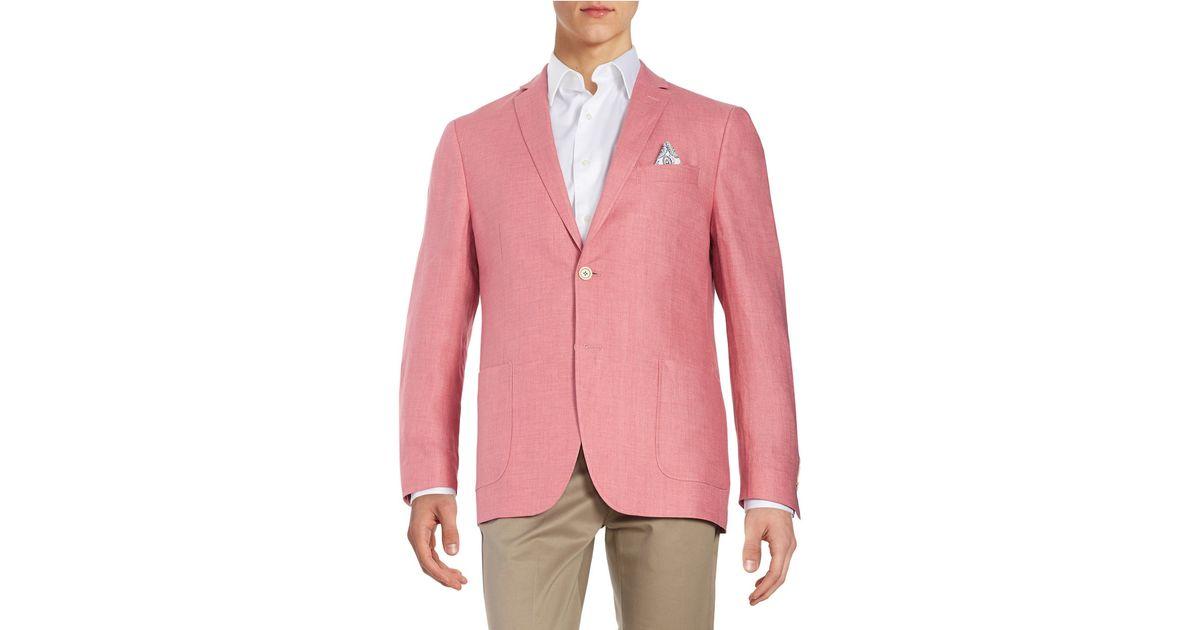 Tallia orange Linen Blazer in Pink for Men | Lyst