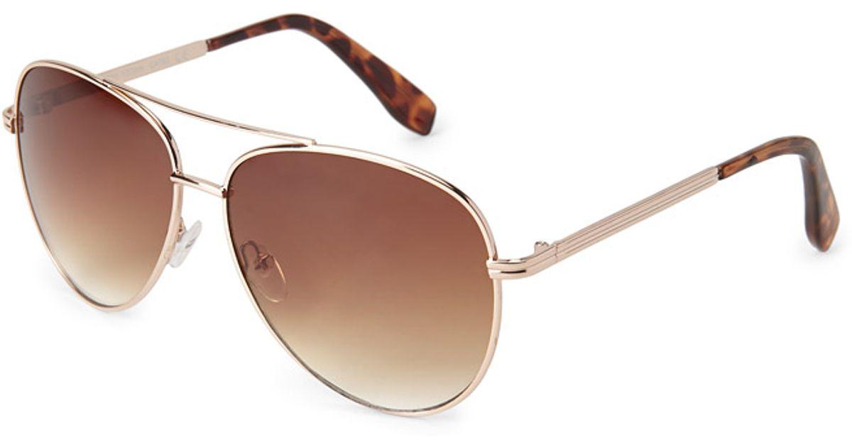 Sunglasses Forever 21  forever 21 tortoise aviator sunglasses in metallic lyst