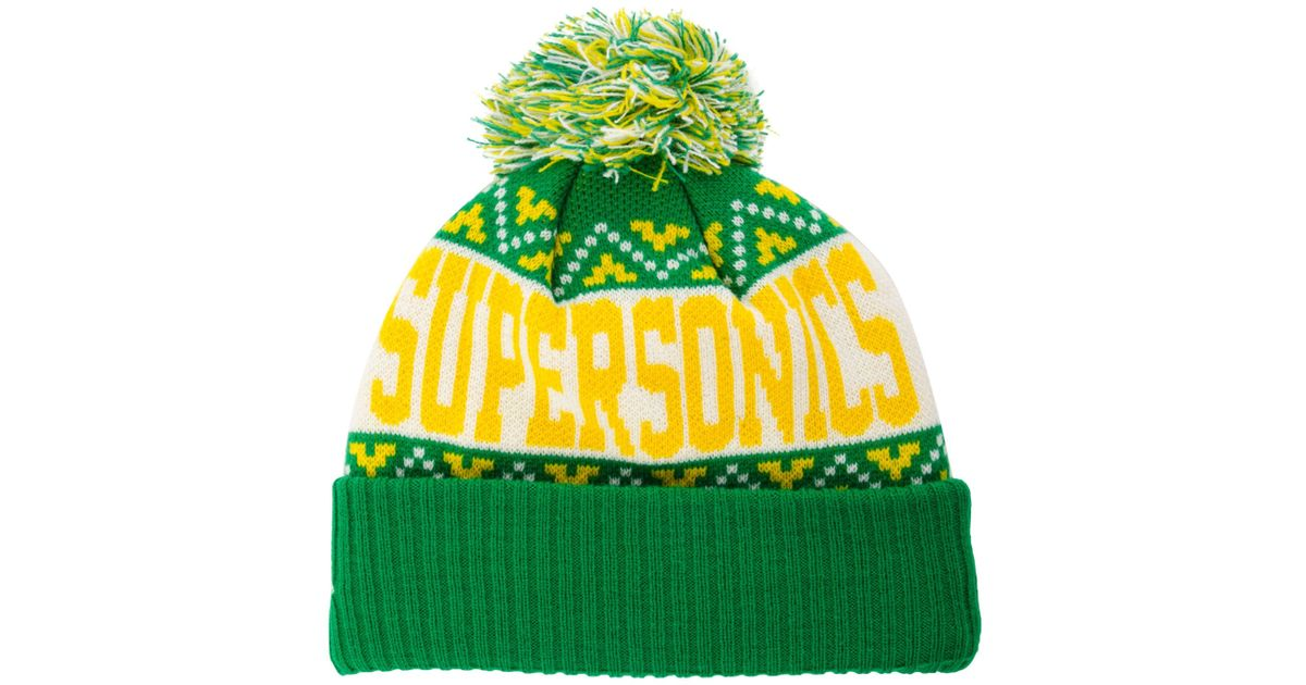 87abde340 Lyst - KTZ Seattle Supersonics Biggest Christmas Knit Hat in Green for Men