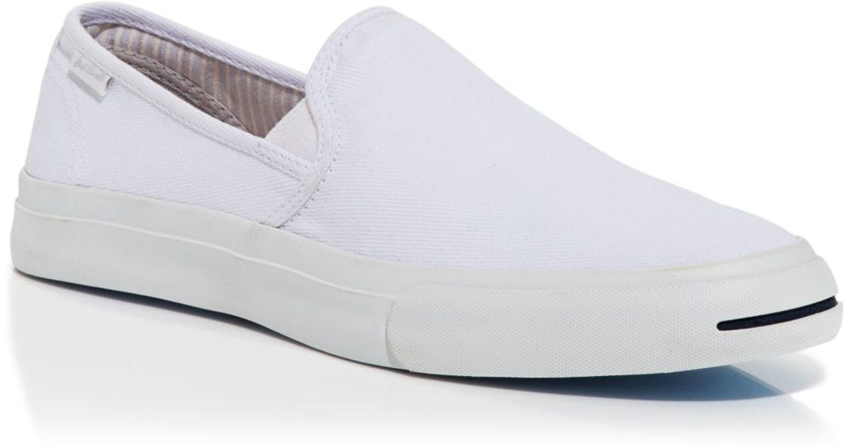 1ca3a2a895f4 Lyst - Converse Jack Purcell Slip On Sneakers in White for Men
