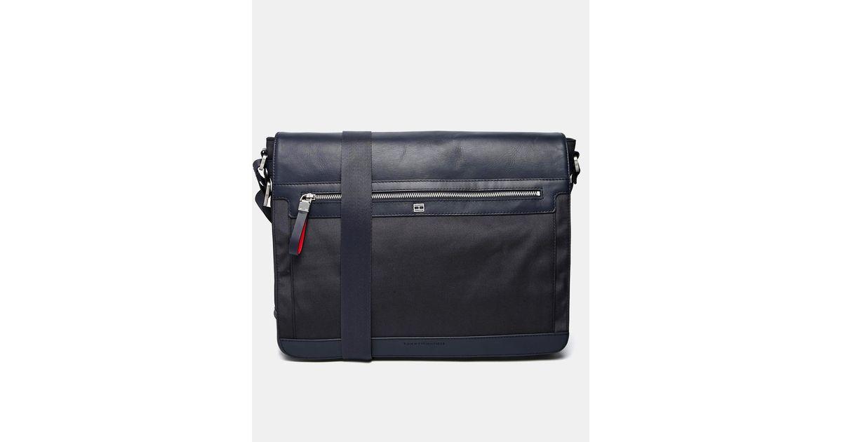 d34efa70e2c Tommy Hilfiger Felix Messenger Bag in Blue for Men - Lyst
