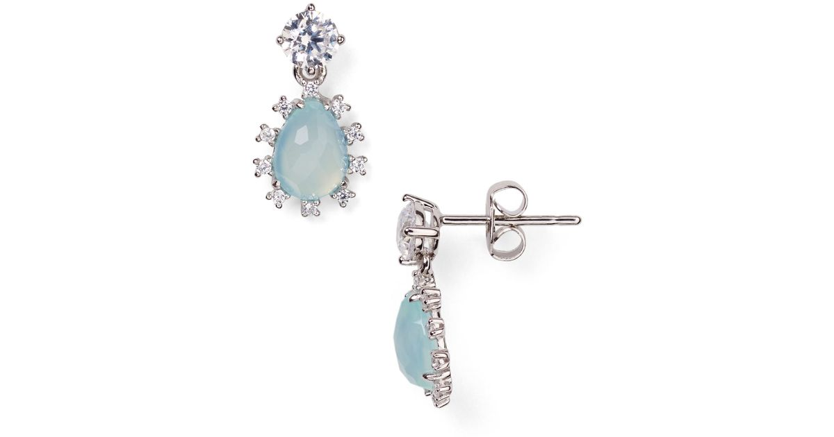 3d2e26a49 Lyst - Nadri Lashout Chalcedony Stud Drop Earrings - Bloomingdale's  Exclusive in Blue
