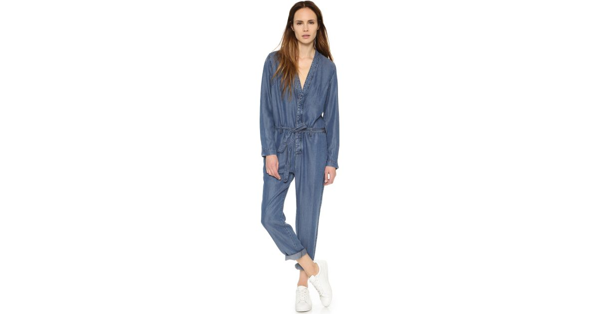 c31a8df990 Lyst - Free People Lou Jumpsuit in Blue