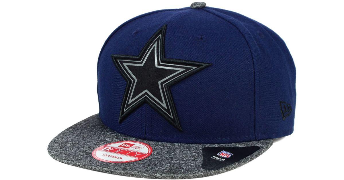 2c431ea0710 Lyst - KTZ Dallas Cowboys Gridiron Hook 9fifty Snapback Cap in Blue for Men